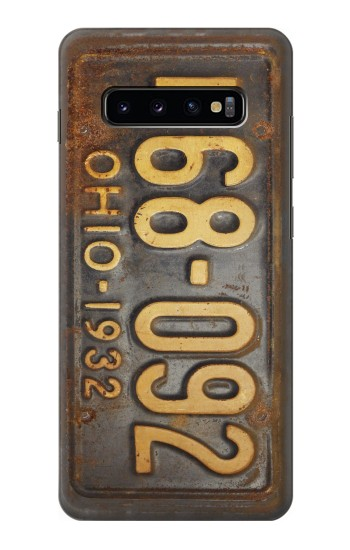 Printed Vintage Car License Plate Samsung  Galaxy S10 Plus Case