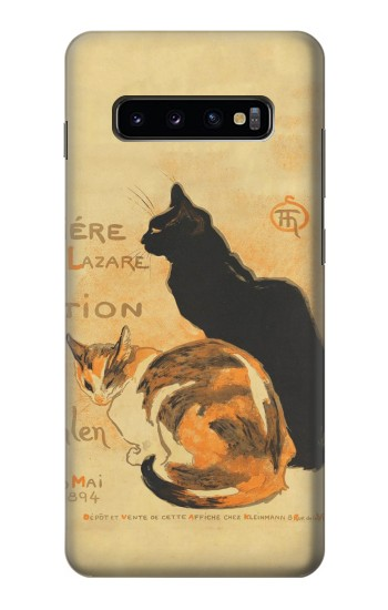 Printed Vintage Cat Poster Samsung  Galaxy S10 Plus Case