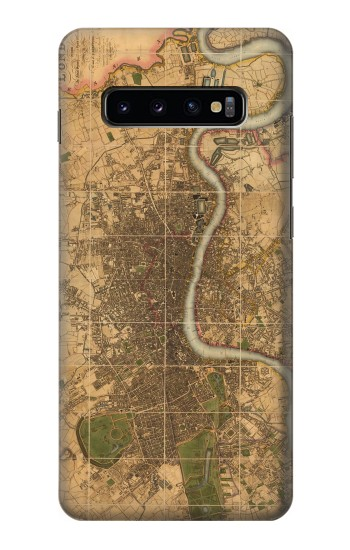 Printed Vintage Map of London Samsung  Galaxy S10 Plus Case
