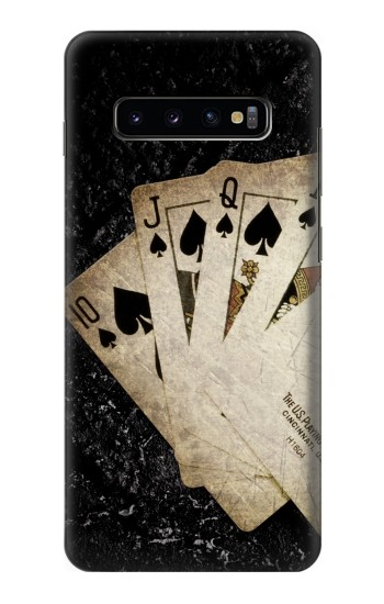 Printed Vintage Royal Straight Flush Cards Samsung  Galaxy S10 Plus Case