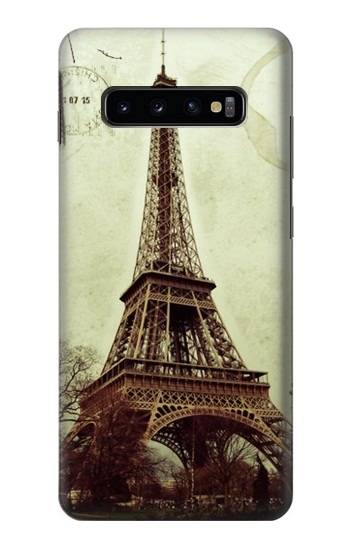 Printed Vintage Tour Eiffel Postcard Samsung  Galaxy S10 Plus Case