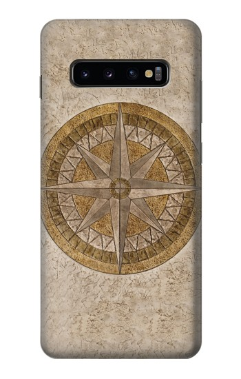 Printed Windrose Circle Stamp Samsung  Galaxy S10 Plus Case