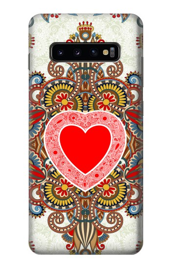 Printed Heart Pattern Line Art Samsung  Galaxy S10 Plus Case