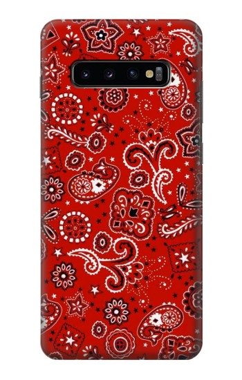 Printed Red Bandana Samsung  Galaxy S10 Plus Case