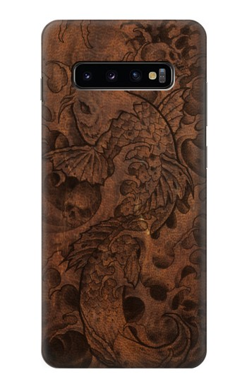 Printed Fish Tattoo Leather Graphic Print Samsung  Galaxy S10 Plus Case