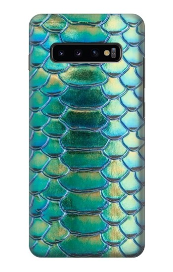 Printed Green Snake Scale Graphic Print Samsung  Galaxy S10 Plus Case