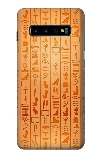Printed Egyptian Hieroglyphs Samsung  Galaxy S10 Plus Case