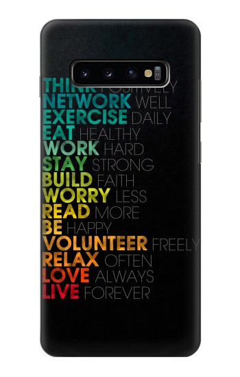 Printed Think Positive Words Quotes Samsung  Galaxy S10 Plus Case