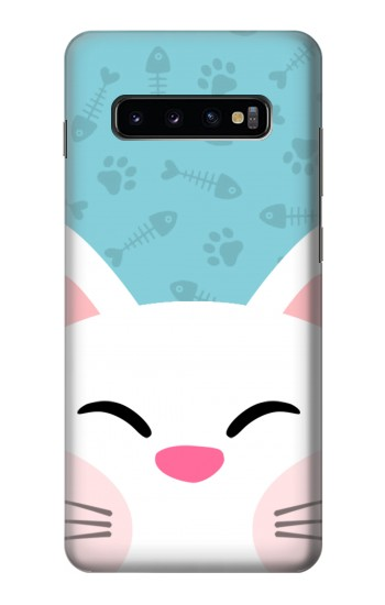 Printed Cute Cat Cartoon Samsung  Galaxy S10 Plus Case
