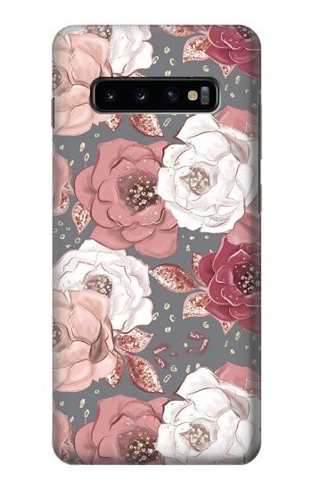 Printed Rose Floral Pattern Samsung  Galaxy S10 Plus Case