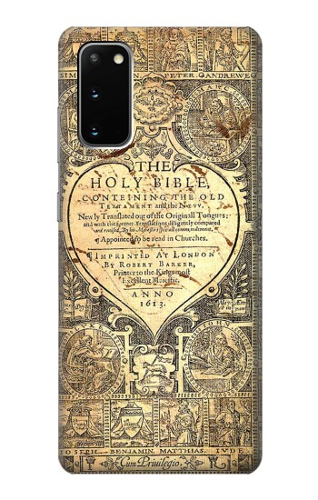 Printed Bible Page Samsung Galaxy S20 Case