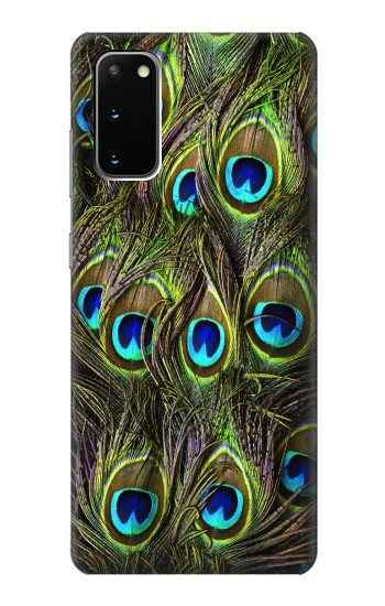 Printed Peacock Feather Samsung Galaxy S20 Case