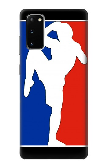 Printed Muay Thai Kickboxing MMA Martial Art White Samsung Galaxy S20 Case