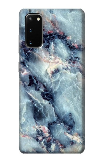 Printed Blue Marble Texture Samsung Galaxy S20 Case