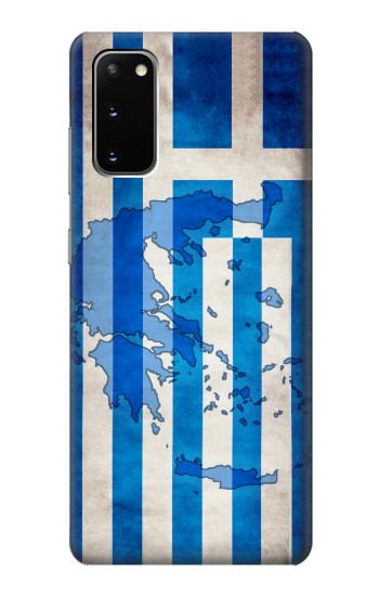 Printed Greece Map Flag Samsung Galaxy S20 Case