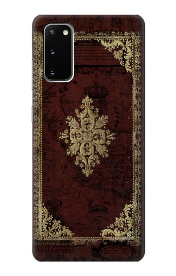 Printed Vintage Map Book Cover Samsung Galaxy S20 Case