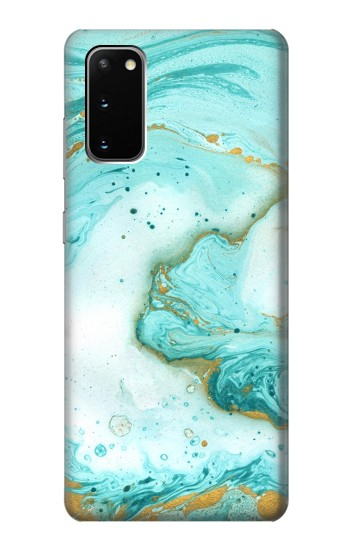 Printed Green Marble Graphic Print Samsung Galaxy S20 Case