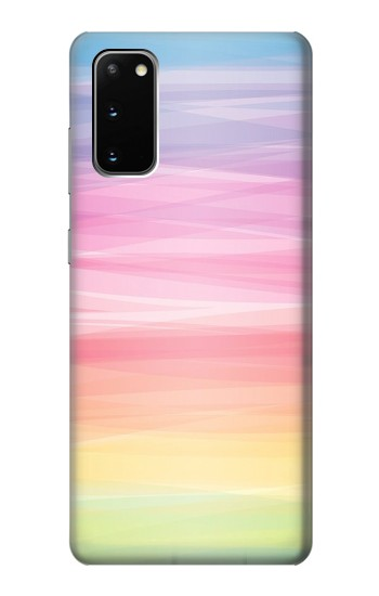 Printed Colorful Rainbow Pastel Samsung Galaxy S20 Case
