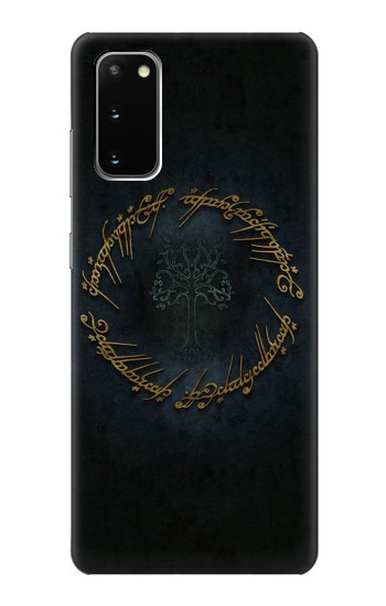 Printed Lord of The Rings Ring Elf Writing Samsung Galaxy S20 Case