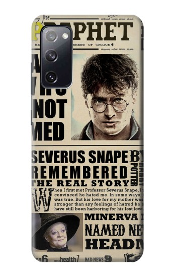Printed Harry Potter Daily Prophet Samsung Galaxy S20 FE Case