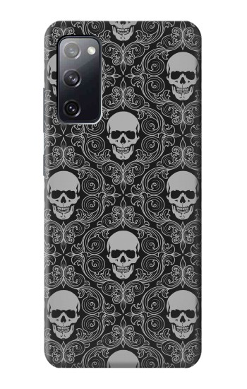 Printed Skull Vintage Monochrome Pattern Samsung Galaxy S20 FE Case