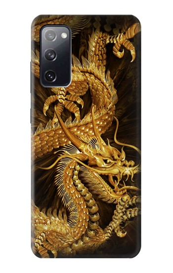 Printed Chinese Gold Dragon Printed Samsung Galaxy S20 FE Case