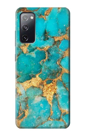 Printed Aqua Turquoise Stone Samsung Galaxy S20 FE Case