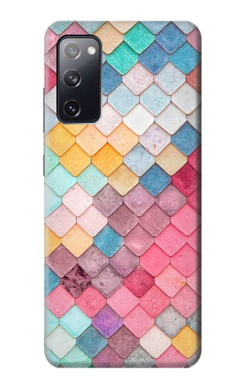 Printed Candy Minimal Pastel Colors Samsung Galaxy S20 FE Case