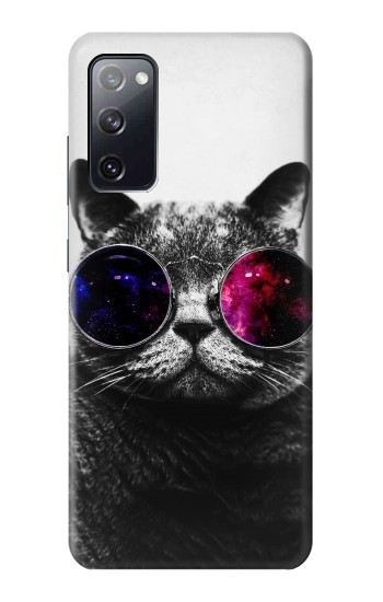 Printed Cool Cat Glasses Samsung Galaxy S20 FE Case