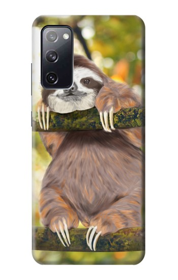 Printed Cute Baby Sloth Paint Samsung Galaxy S20 FE Case