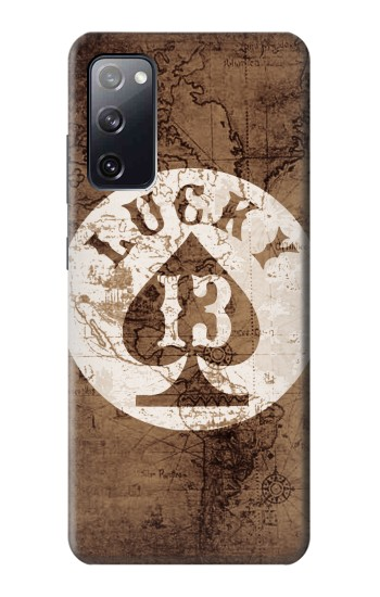 Printed Lucky 13 Old Map Samsung Galaxy S20 FE Case