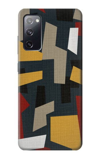 Printed Abstract Fabric Texture Samsung Galaxy S20 FE Case