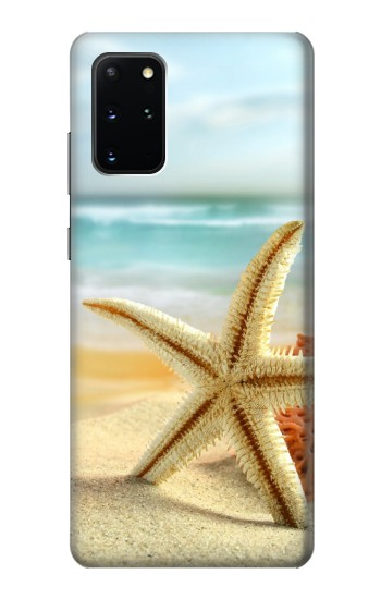 Printed Starfish on the Beach Samsung Galaxy S20+ Case