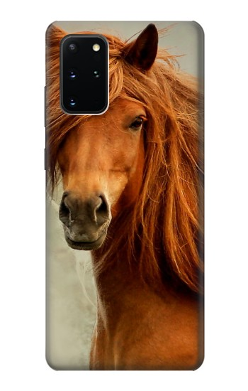 Printed Beautiful Brown Horse Samsung Galaxy S20+ Case