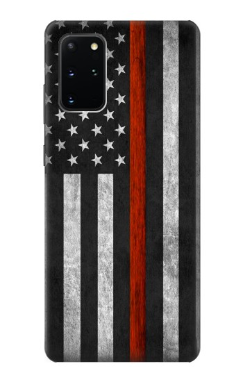 Printed Firefighter Thin Red Line Flag Samsung Galaxy S20+ Case
