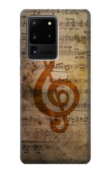 Printed Sheet Music Notes Samsung Galaxy S20 Ultra Case