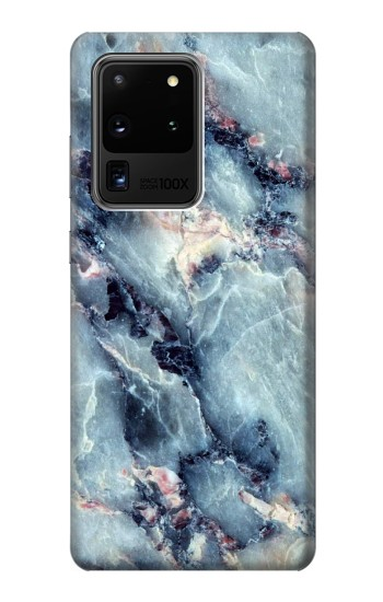 Printed Blue Marble Texture Samsung Galaxy S20 Ultra Case