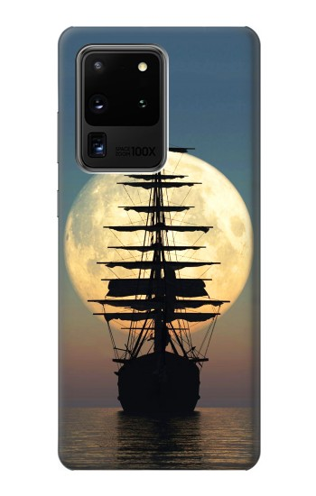 Printed Pirate Ship Moon Night Samsung Galaxy S20 Ultra Case