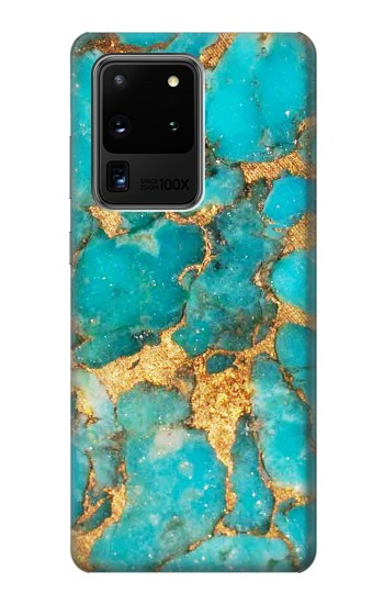 Printed Aqua Turquoise Stone Samsung Galaxy S20 Ultra Case