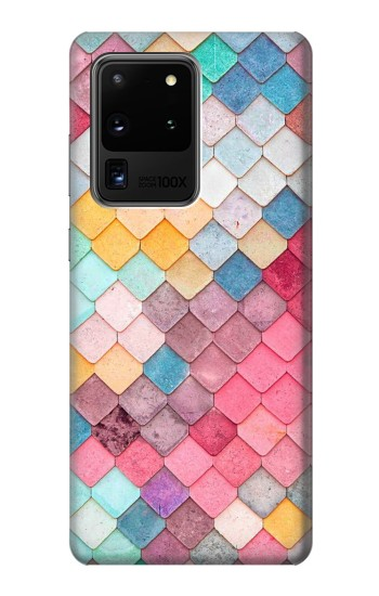 Printed Candy Minimal Pastel Colors Samsung Galaxy S20 Ultra Case