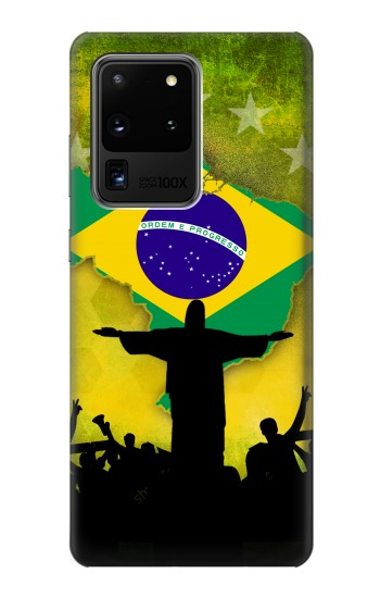 Printed Brazil Football Flag Samsung Galaxy S20 Ultra Case