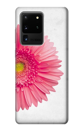 Printed Vintage Pink Gerbera Daisy Samsung Galaxy S20 Ultra Case