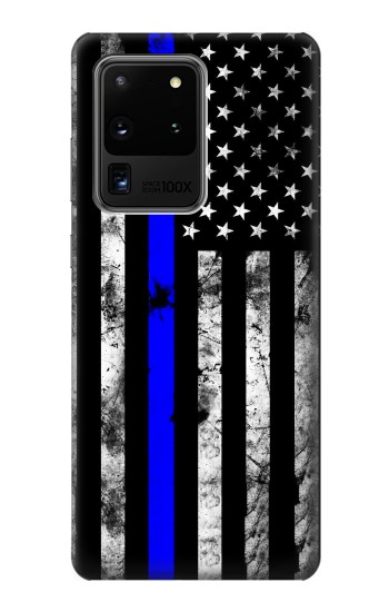 Printed Thin Blue Line USA Samsung Galaxy S20 Ultra Case
