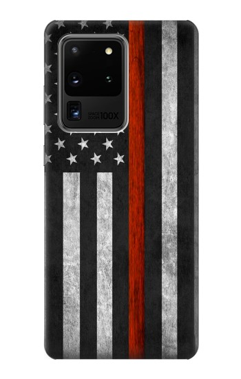 Printed Firefighter Thin Red Line Flag Samsung Galaxy S20 Ultra Case