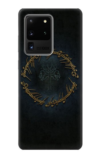 Printed Lord of The Rings Ring Elf Writing Samsung Galaxy S20 Ultra Case
