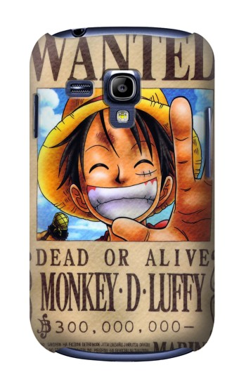 Printed One Piece Monkey D Luffy Wanted Poster Samsung Galaxy S3 mini Case