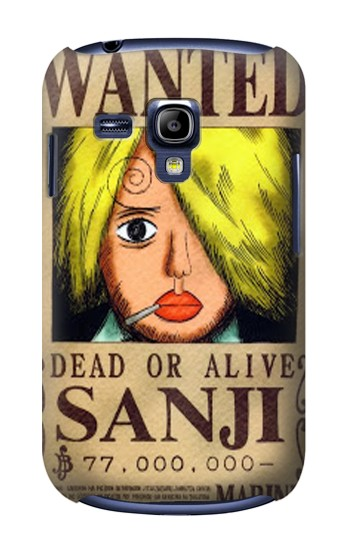 Printed One Piece Sanji Wanted Poster Samsung Galaxy S3 mini Case