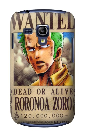 Printed One Piece Roronoa Zoro Wanted Poster Samsung Galaxy S3 mini Case