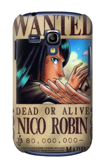 Printed One Piece Nico Robin Wanted Poster Samsung Galaxy S3 mini Case
