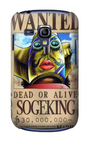 Printed One Piece SOGEKING Wanted Poster Samsung Galaxy S3 mini Case